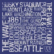 Washington Huskies/Husky Stadium College Colors Subway Art