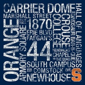 Syracuse Orange/Carrier Dome College Colors Subway Art