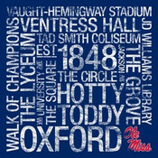Ole Miss Rebels/Vaught Hemingway Stadium College Colors Subway A