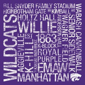 Kansas State Wildcats/BSFF Stadium College Colors Subway Art
