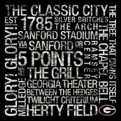 Georgia Bulldogs/Sanford Stadium College Colors Subway Art