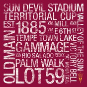 Arizona State Sun Devils/Sun Devil Stadium College Colors Subway