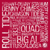 Alabama Crimson Tide/Bryant Denny Stadium College Colors Subway