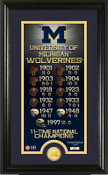 """Michigan Wolverines """"Legacy"""" Bronze Coin Panoramic Photo Mint"""