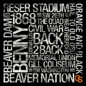 Oregon State Beavers/Autzen Stadium College Colors Subway Art