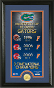 "Florida Gators ""Legacy"" Bronze Coin Panoramic Photo Mint 1"