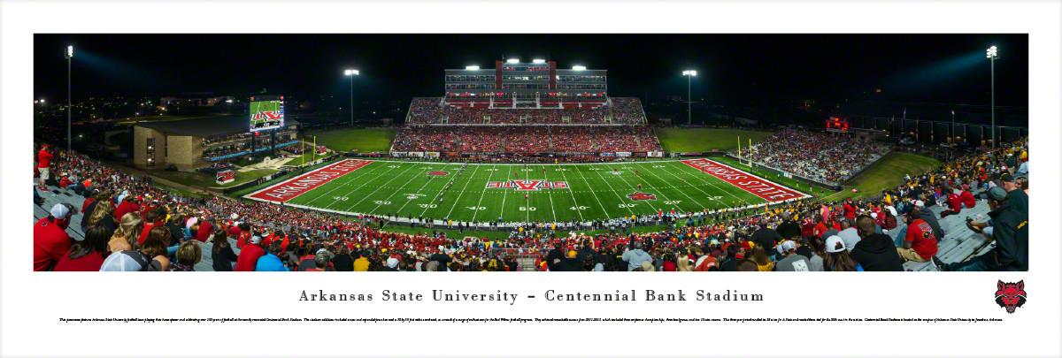 Arkansas State Red Wolves at Centennial Bank Stadium Panorama