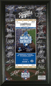 Kansas City Royals 2015 World Series Signature Ticket