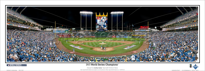 """2015 World Series"" Kauffman Stadium Panoramic Poster"
