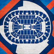 Oklahoma City Thunder - Chesapeake Energy Arena City Print