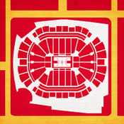 Houston Rockets - Toyota Center City Print