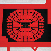 Louisville Cardinals -KFC Yum! Center City Print