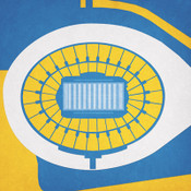 UCLA Bruins - Rose Bowl City Print