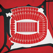 Georgia Bulldogs - Sanford Stadium City Print