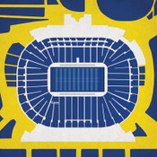 Michigan Wolverines - Michigan Stadium City Print