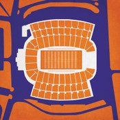 Clemson Tigers - Memorial Stadium City Print