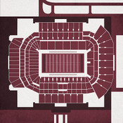 Texas A&M Aggies - Kyle Field City Print