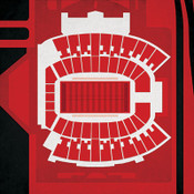 Texas Tech Red Raiders - Jones AT&T Stadium City Print