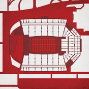 Arkansas Razorbacks - Razorback Stadium City Print