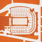 Texas Longhorns - Royal Memorial Stadium City Print