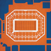 Syracuse Orange - Carrier Dome City Print 1