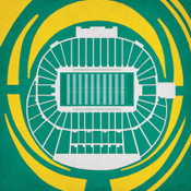 Oregon Ducks Autzen Stadium City Print Psoter