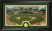 "Oakland Athletics ""Tradition""  Bronze Coin Panoramic Photo Mint"