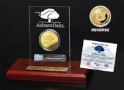 Auburn Oaks Authentic Oak Gold Coin Acrylic Desk Top Coin