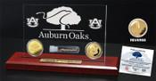 """Auburn Oaks Authentic Oak 6""""x9"""" Etched Acrylic Gold Coin DeskTop"""