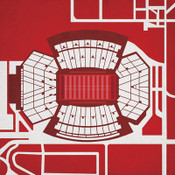 Memorial Stadium - Nebraska Cornhuskers City Print