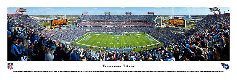 Tennessee Titans at LP Field Panorama Poster