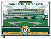 Oakland Coliseum Handmade LE Screen Print