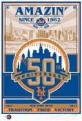 New York Mets 50th Anniversary Handmade LE Screen Print