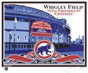 Wrigley Field Handmade LE Screen Print