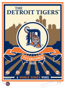 Detroit Tigers Handmade LE Screen Print