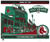 Fenway Park 100th Anniversary Handmade LE Screen Print
