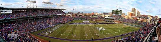 """Wrigleyville Classic"" Northwestern vs. Illinois Panoramic Photo"