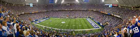 """RCA Dome"" Indianapolis Colts Panoramic Photo"