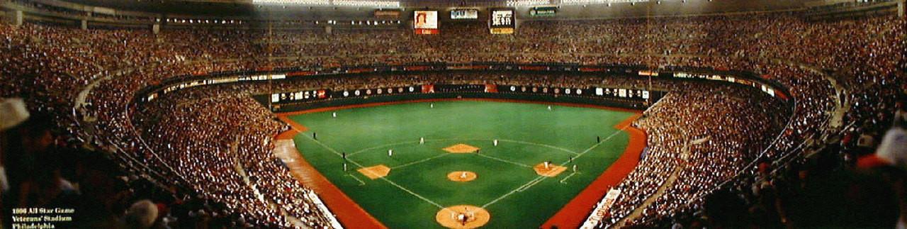 """""""1996 All-Star Game"""" Veterans Stadium Panoramic Photo"""