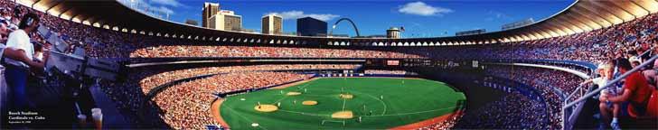 """""""Busch Stadium"""" St. Louis Cardinals Panoramic Photograph"""
