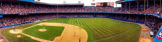 """Tiger Stadium"" Detroit Tigers Panoramic Photograph"