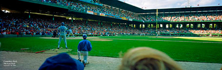 """""""Last Pitch at Comiskey Park"""" Chicago White Sox Panoramic Photo"""