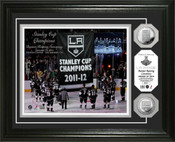 LA Kings  Champions Banner Raising Ceremony Photo Mint