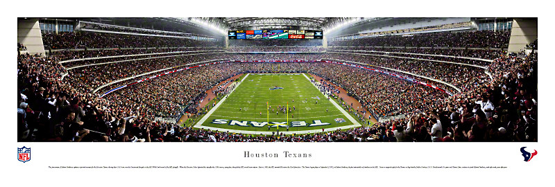 """First Win"" Houston Texans 13.5""x39""Panoramic Poster"