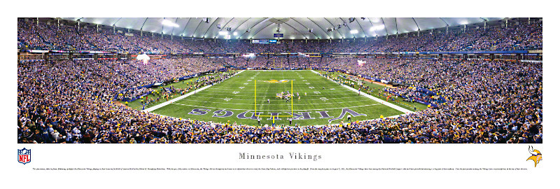 Minnesota Vikings at the Metrodome Panorama Poster