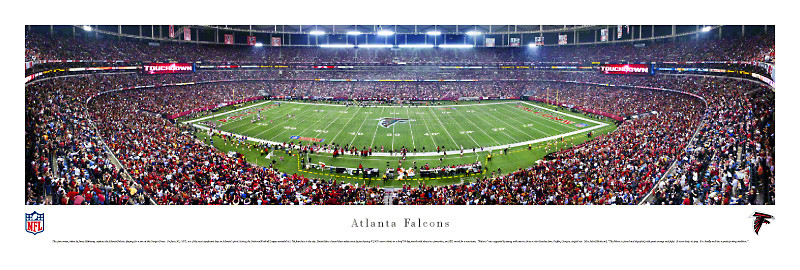 Atlanta Falcons at the Georgia Dome Panorama Poster