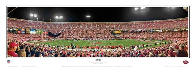 """49ers"" San Francisco 49ers Panoramic Poster"