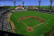 """""""Sportsman's Park Gold"""" St. Louis Cardinals Print"""