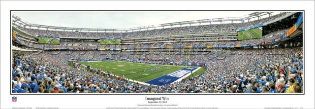"""Inaugural Win"" New York Giants Panoramic Poster"