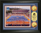 Boise State University Bronco Stadium 24KT Gold Coin Photomint